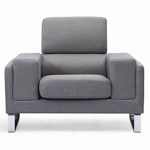 Fauteuil Gris Clair : fauteuil tissu gris clair madra ~ Teatrodelosmanantiales.com Idées de Décoration