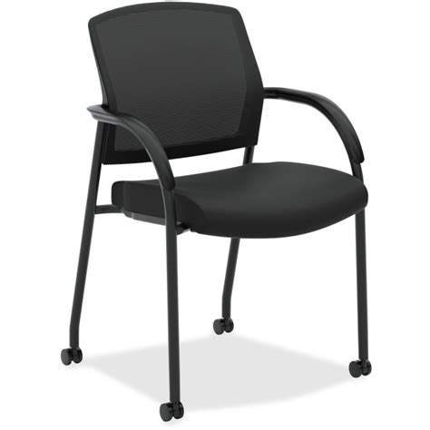 hon 2285va10 lota seating guest side chair fabric black