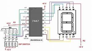 How Can We Connect 7 Segment Display With Ic 7447