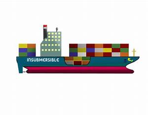 "Clipart - Container Ship ""the INSUBMERSIBLE"""