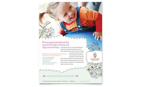babysitting daycare business card letterhead template