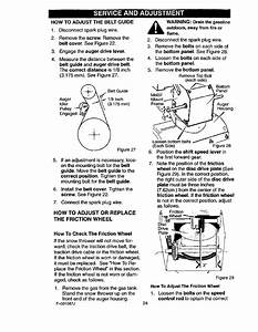 How To Adjust The Belt Guide  How To Adjust Or Replace The