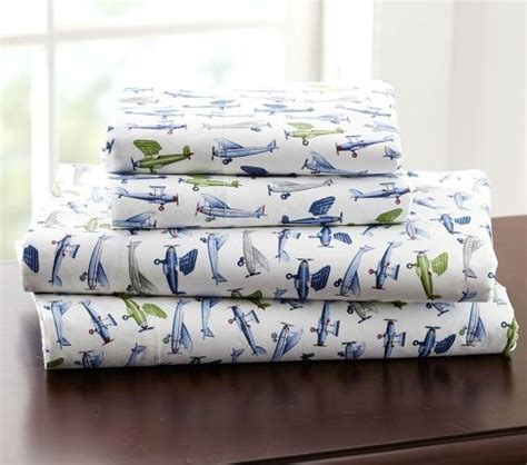 Pottery Barn Airplane Bedding by Vintage Airplane Sheets Pottery Barn Airplane Bedroom