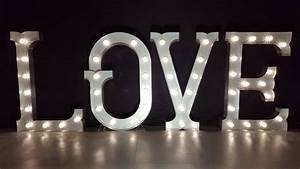 4ft high marquee light up letters 39love39 With 4ft light up letters