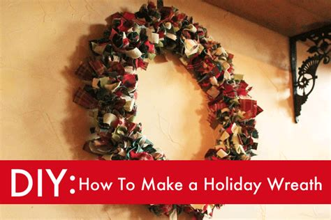 diy make a gorgeous holiday wreath from scrap fabric