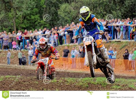 Motocross Sports. Motorcycle Racing Cross Country