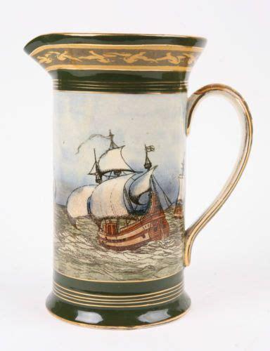 royal doulton burslem galleon antique pitcher england