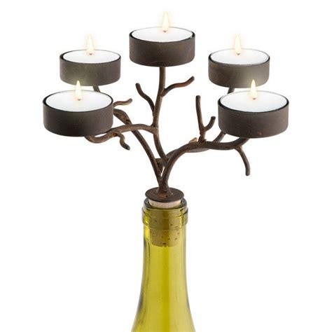 tea light candelabra tea light branches wine bottle candelabra the green