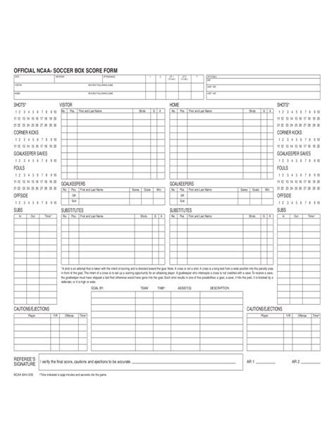 football score sheet   templates   word