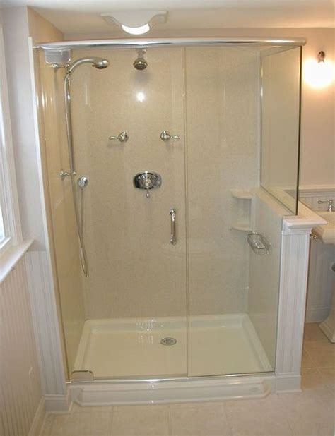 Shower Stall Designs Small Bathrooms by Best 25 Shower Stalls Ideas On Shower Seat
