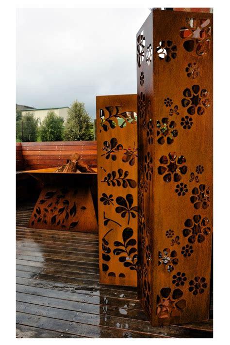 corten steel designs corten steel columns po box designs outdoor furniture art and embe