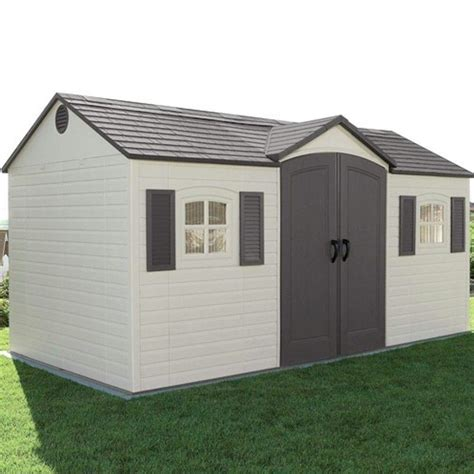 lifetime apex plastic shed 15x8 one garden