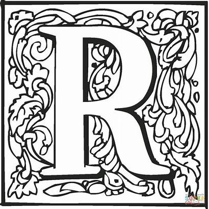 Letter Coloring Pages Fancy Printable Letters Tattoo