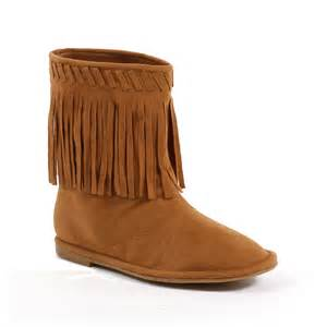buy s boots india children 39 s moccasin fringe indian ankle boots shoes size usa ebay