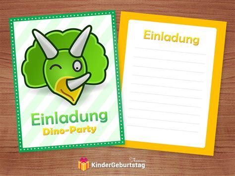 dino einladungskarten basteln diy vorlagen fuer motto party