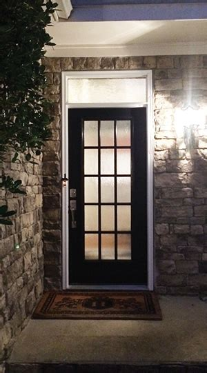 Exterior Door With Window by Entry Door And Transom Window Replacement How To