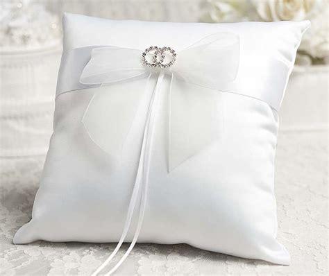 rhinestone rings wedding ring bearer pillow