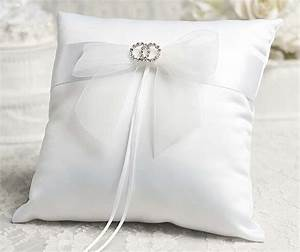 Rhinestone rings wedding ring bearer pillow for Ring pillow wedding