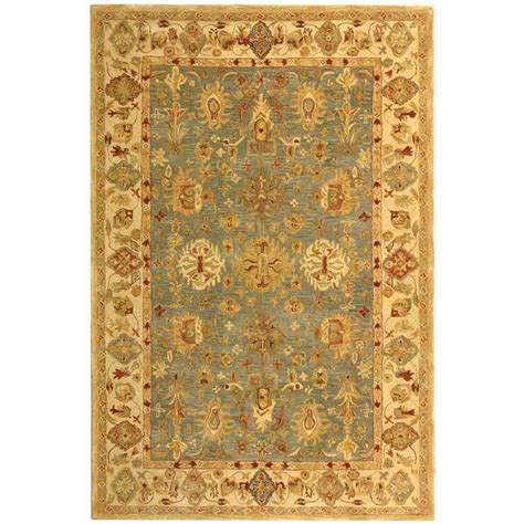 5 8 Area Rugs by Safavieh Anatolia Blue Ivory 5 Ft X 8 Ft Area Rug An547a