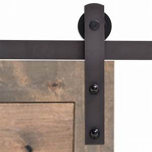 calhome 72 in antique bronze classic straight strap barn With barn style door locks