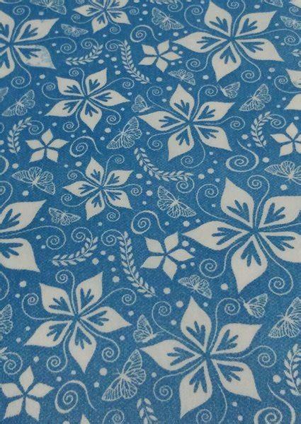 jual wallpaper lokal motif batik kupu biru muda  lapak