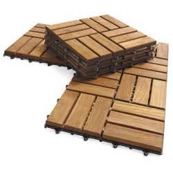 Acacia Deck Tiles by Interlocking Outdoor Deck Tiles Garden Solid Teak Wood