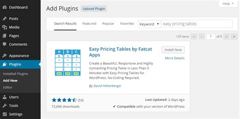 Compare Your Products Plans With Easy Pricing Tables