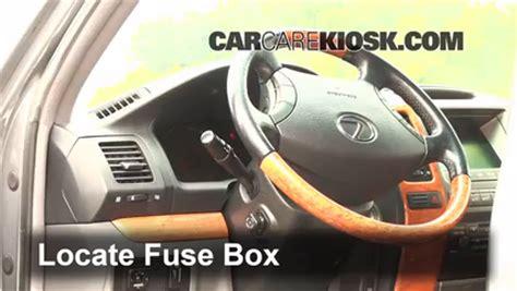 interior fuse box location   lexus rx