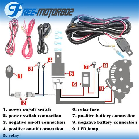 Universal Led Light Bar Fog Wiring Harness Kit
