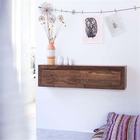 chaise bureau bois console suspendue en palissandre massif pas cher tikamoon