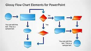 Glossy Flow Chart Template For Powerpoint