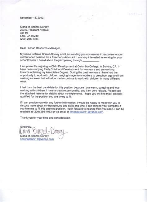 Teaching Practicum Experience On Resume by Cover Letter Kiana Brazell Practicum Profolio
