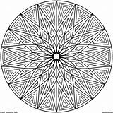 Coloring Adults Patterns Geometric Pattern Cool Abstract Flower Adult Mandala Colouring Hard Printable Circles Sheets Fascinating Inspirational Malvorlagen Circle Popular sketch template