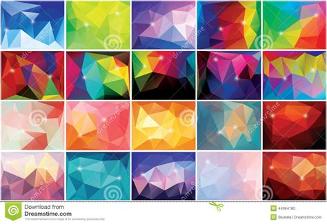 abstract geometric colorful background pattern design