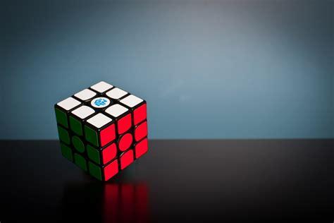 solved rubiks cube gan cube hd photo  olav ahrens