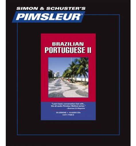 pimsleur portuguese brazilian level  cd pimsleur