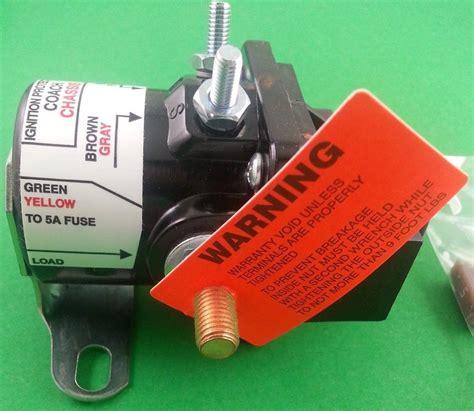 intellitec 01 00055 000 rv motorhome battery disconnect solenoid relay ebay