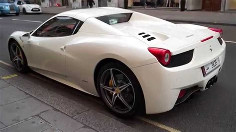 white ferrari  spider youtube