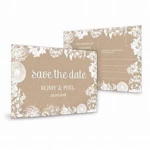 Karte Zur Hochzeit : save the date karte zur hochzeit im kraftpapierstil mit ~ A.2002-acura-tl-radio.info Haus und Dekorationen