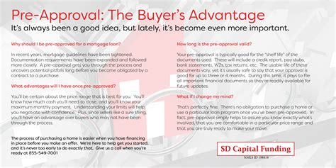 pre approval  buyers advantage sd capital funding corp