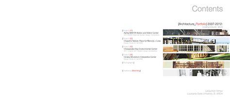 11439 architecture portfolio table of contents architecture portfolio on behance