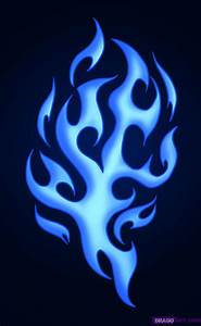How To Draw Tribal Flames, Step by Step, Tattoos, Pop ...