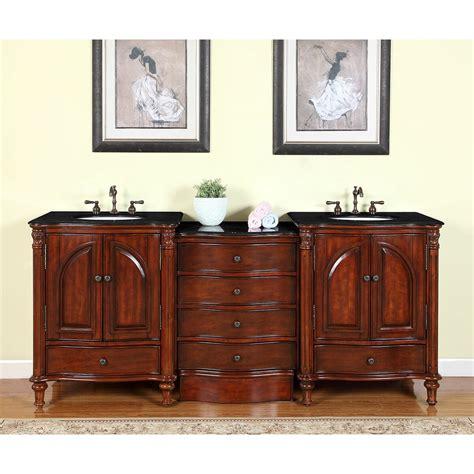 silkroad exclusive leila  double bathroom vanity set