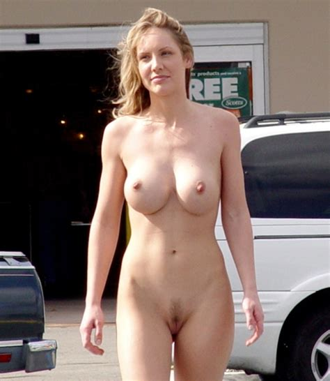 Nice Looking Gal Naked By The Store Nudeshots