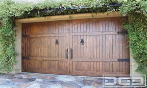 Iron and Wood Garage Doors