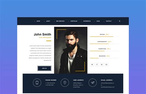 Best Resume Website by 18 Best Html Resume Templates For Awesome Personal