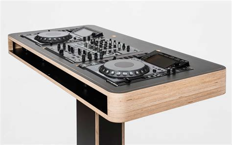 wooden dj table stereo t hoerboard pro audio dj furniture