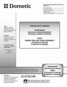 Dometic 9100 Power Awning Manual