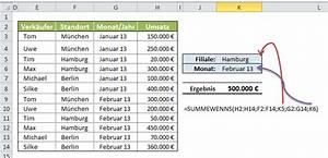Umsatz Berechnen Excel : excel summewenn und summewenns funktion excel lernen ~ Themetempest.com Abrechnung