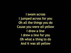 Coldplay - Yellow Lyrics - YouTube